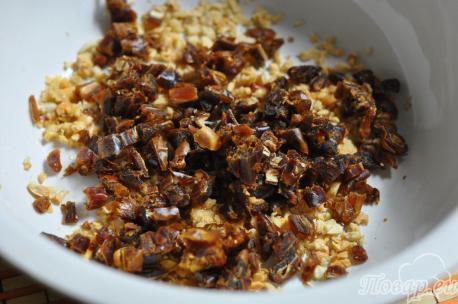 Диетическое овсяное печенье: орехи, сухофрукты