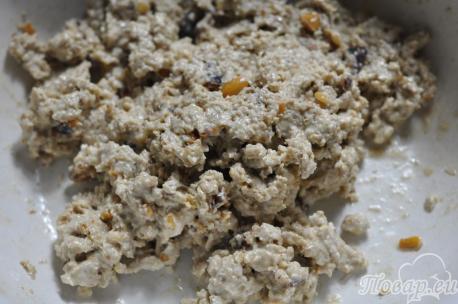 Диетическое овсяное печенье: масса для выпечки