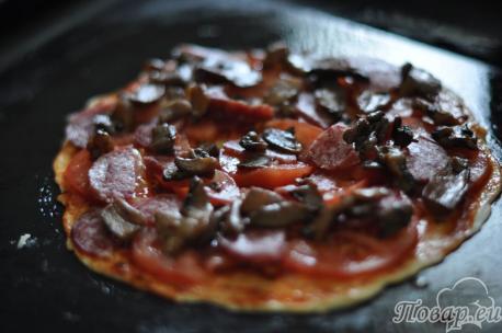 Начинка для приготовления домашней пиццы без дрожжей