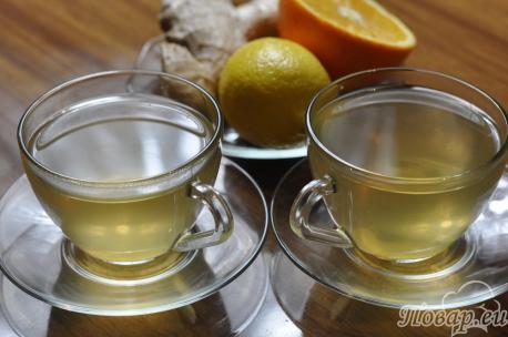 Имбирный чай с апельсином