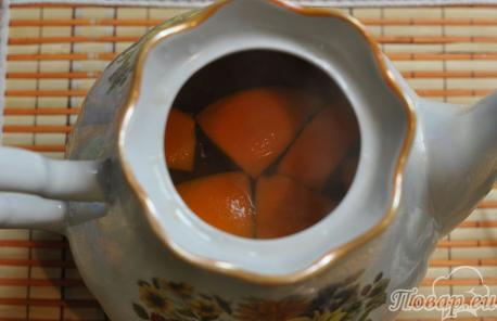 Рецепт имбирного чая с апельсином: апельсины