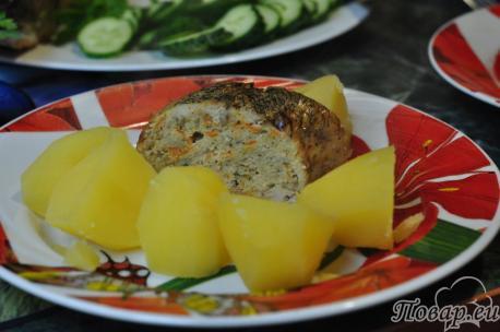 Фаршированная рыба в духовке: готовое блюдо