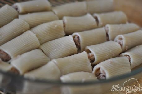Фаршированные макароны-трубочки в форме