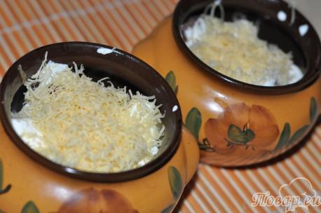 Сыр в горшочке по-белорусски