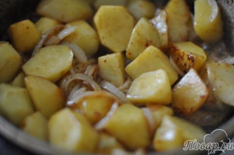 Обжаренный картофель для горшочка по-белорусски