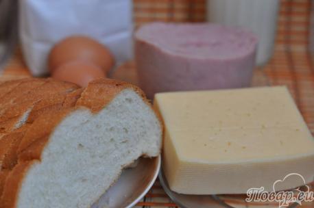Горячие бутерброды на сковороде: продукты