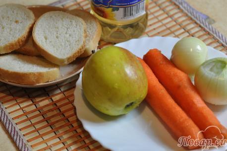 Гренки с овощами: продукты
