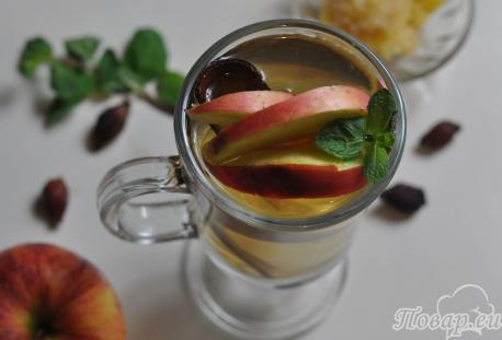 Имбирный чай с шиповником: готовый напиток