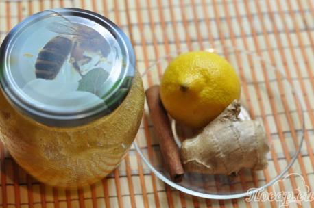 Имбирный напиток с лимоном и мёдом: продукты