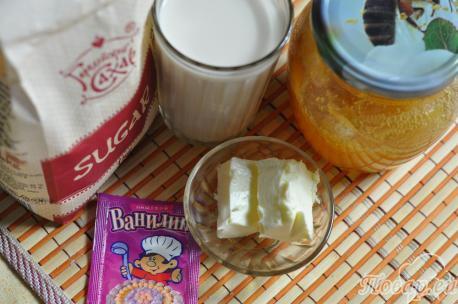 Ириски на топлёном молоке: продукты