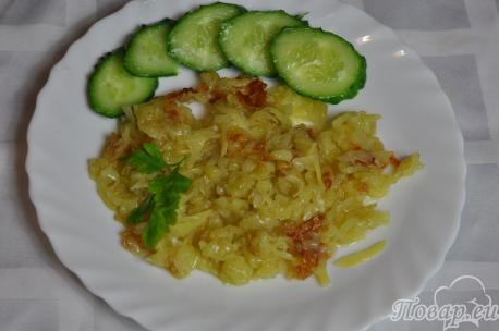 Жареный тёртый картофель: готовое блюдо