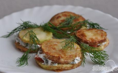 Как правильно приготовить кабачки на закуску из жареных кабачков с помидорами