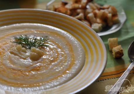 Как правильно приготовить капусту цветную: суп-пюре