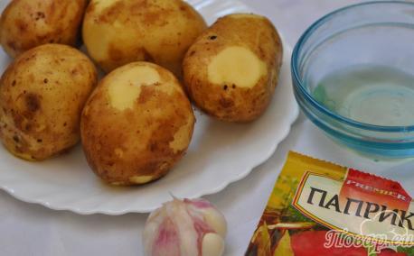 Картофель Айдахо в мультиварке: продукты