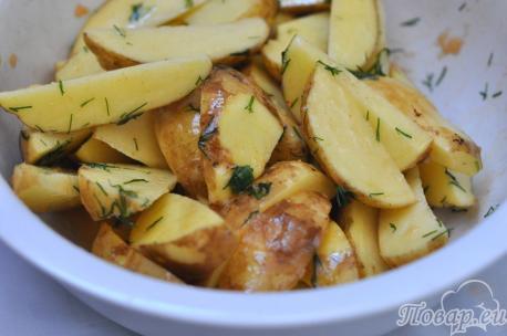 Картофель Айдахо в мультиварке: соус
