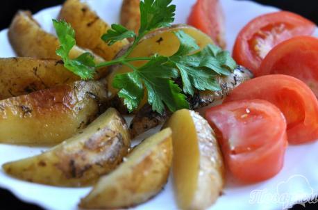 Картофель Айдахо в мультиварке: готовое блюдо