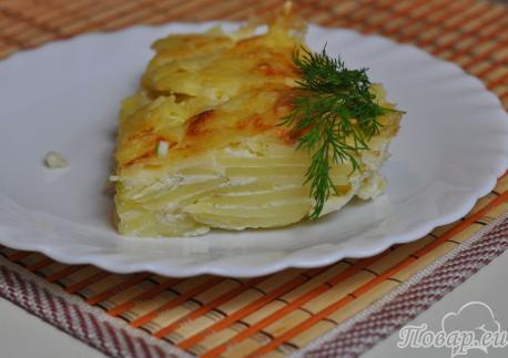Картофель Дофине в духовке: готовое блюдо