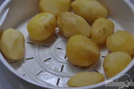 Картофель на пару в мультиварке: готовое блюдо