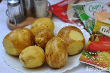 Картофель по-деревенски в мультиварке: ингредиенты