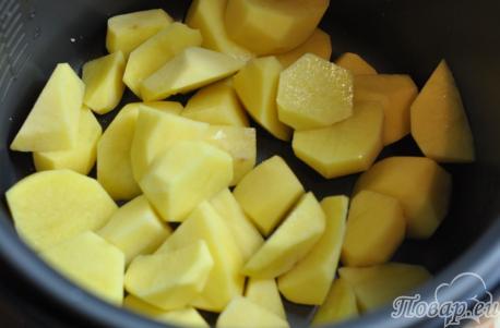 Картошка с сердечками в мультиварке: картофель