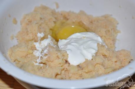 Картофельная масса для приготовления картофельной бабки по-белорусски