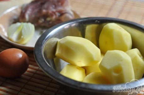 Картофельное суфле с мясом: продукты