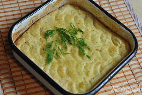 Картофельное суфле с мясом: готовое суфле