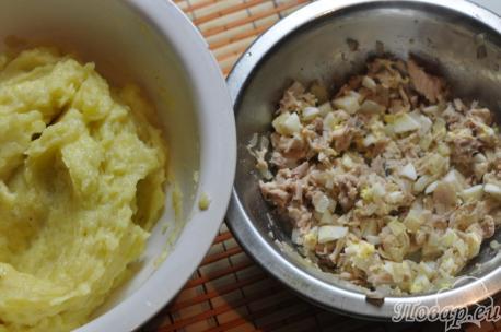 Картофельные крокеты с курицей: пюре и начинка