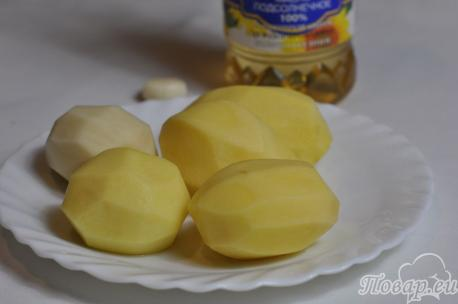 Картофель жареный в мультиварке: продукты
