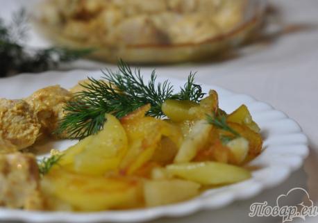 Картофель жареный в мультиварке: готовое блюдо