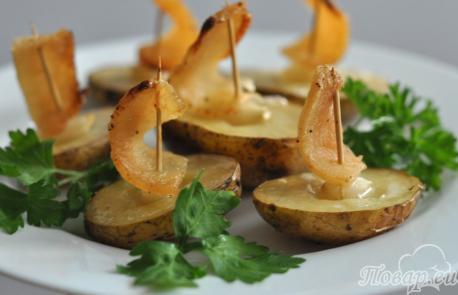 Картошка Под парусами в духовке