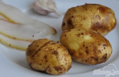 Картошка Под парусами в духовке: продукты