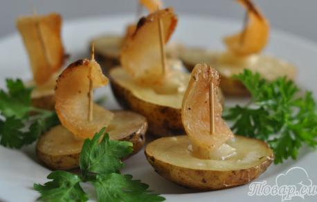 Картошка Под парусами в духовке: готовое блюдо