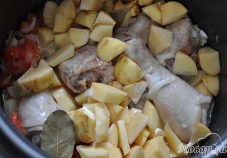 Картошка с курицей по вкусу: овощи