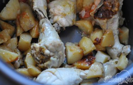 Картошка с курицей по вкусу: готовое блюдо