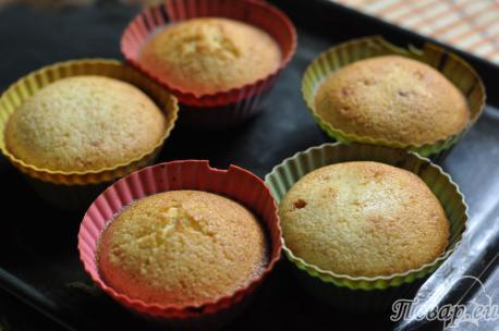 Кексы с начинкой: готовая выпечка