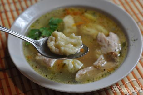 Как сделать клёцки для супа: суп с клёцками