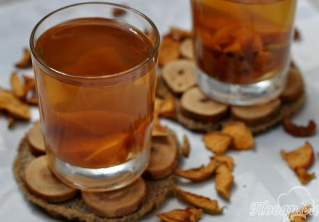Компот из сушёных яблок: готовый напиток