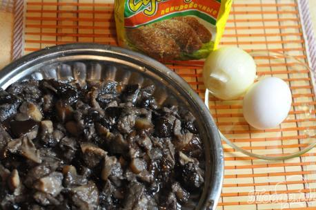 Котлеты из грибов: продукты