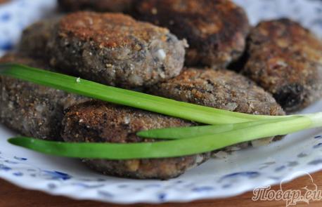 Котлеты из грибов: готовое блюдо