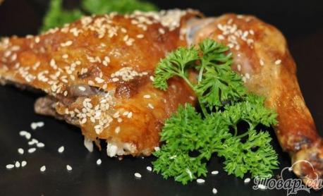 Курица с кунжутом