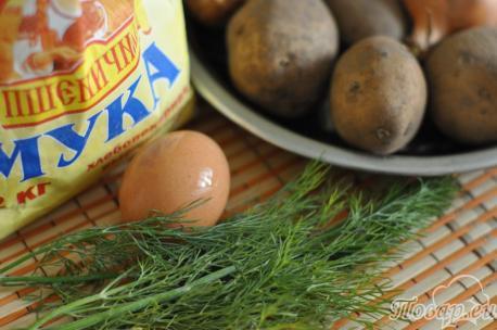 Кыстыбый с картофелем: продукты
