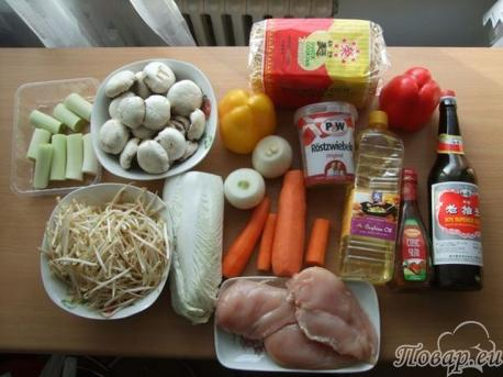 Обзор всех наших необходимых продуктов для рецепта лапши по-китайски