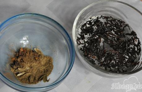 Масала чай: пряности, чай