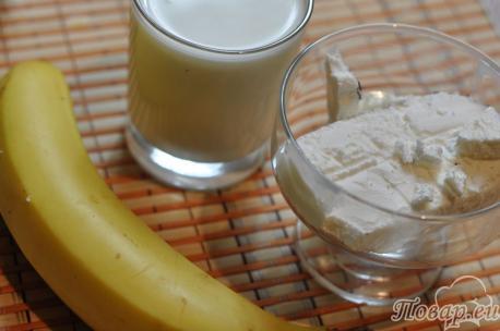 Молочный банановый коктейль: продукты