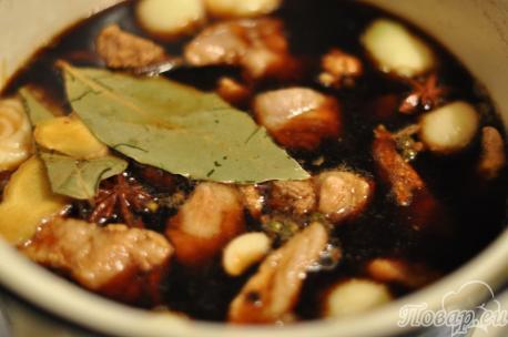 квас, кола и пиво для мяса по-китайски в соевом соусе