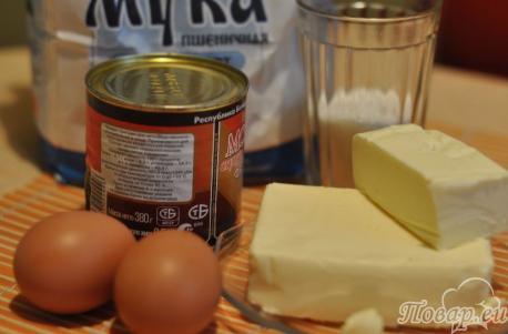 Орешки с варёной сгущёнкой: продукты