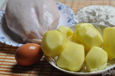 Отбивная в картофельном кляре: продукты