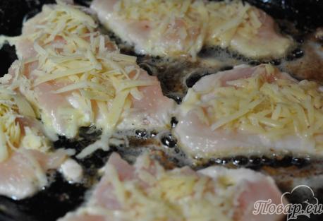 Отбивные с сыром: на сковороде