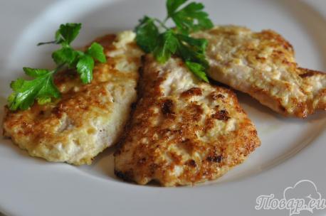 Отбивные с сыром: готовое блюдо
